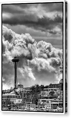 Monorail Canvas Print - The Space Needle by David Patterson