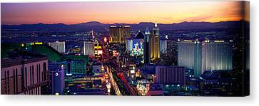 The Boulevards Canvas Print - The Strip, Las Vegas, Nevada, Usa by Panoramic Images