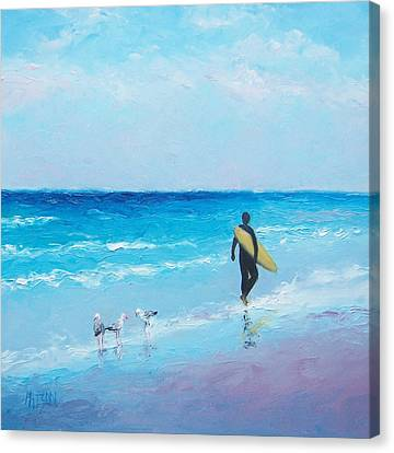 The Surfer Canvas Print by Jan Matson