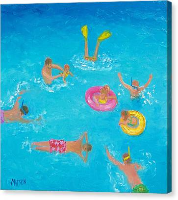 The Swimmers Canvas Print by Jan Matson