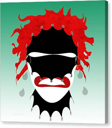 The Tears Of A Clown Canvas Print by Andee Design