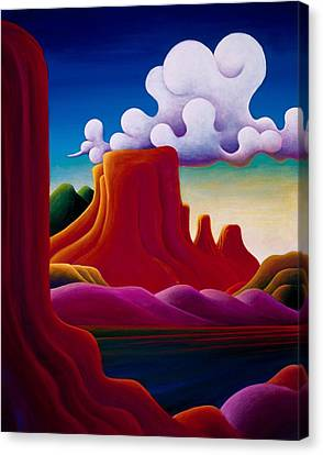 Canvas Print featuring the painting The Tomb Lake Powell by Richard Dennis