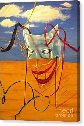 The Transparent Mask Canvas Print by Safa Al-Rubaye