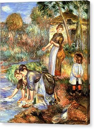 The Washerwoman Canvas Print by Pierre Auguste Renoir