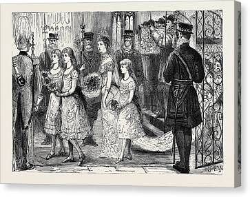 The Wedding Procession In St Canvas Print by English School