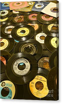 Disk Canvas Print - Those Old 45s by Paul Ward