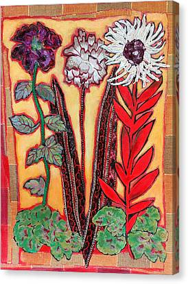 Canvas Print - Three Flowers by Diane Fine