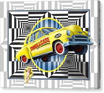Thrillcade Canvas Print by Scott Ross