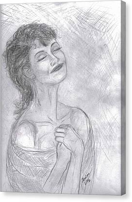 Canvas Print featuring the drawing To Hope by Desline Vitto