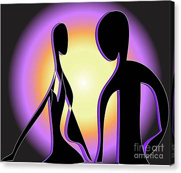 Canvas Print featuring the digital art Together Forever by Iris Gelbart