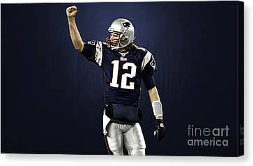 Tom Brady Canvas Print by Marvin Blaine