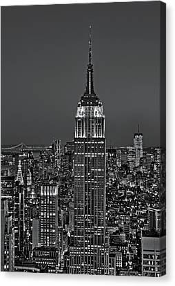 Top Of The Rock Bw Canvas Print by Susan Candelario