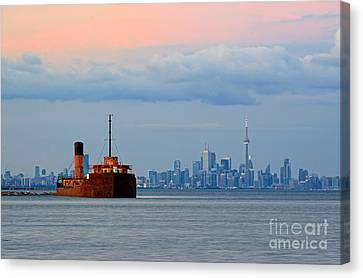 Port Credit Canvas Print - Toronto At Dusk by Charline Xia