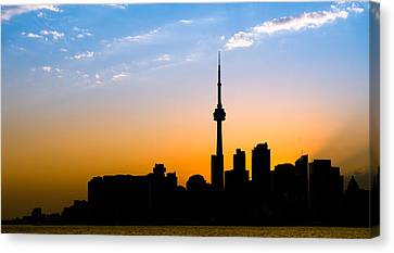Toronto Skyline Canvas Print by Sebastian Musial
