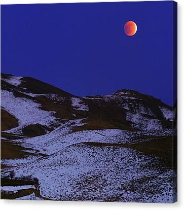 Total Lunar Eclipse Canvas Print