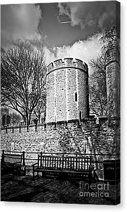 Benches Canvas Print - Tower Of London by Elena Elisseeva