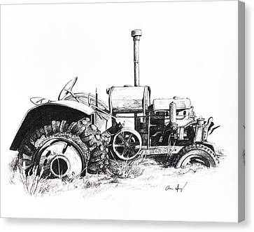 Tractor Canvas Print by Aaron Spong