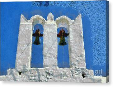 Traditional Belfry In Sifnos Island Canvas Print by George Atsametakis