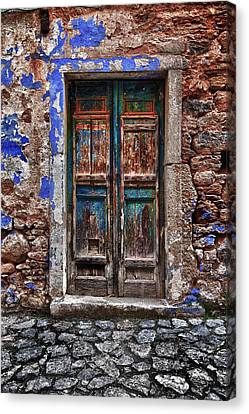 Traditional Door.. Canvas Print by Emmanouil Klimis