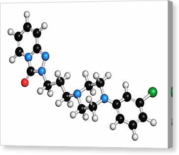 Trazodone Antidepressant Drug Molecule Canvas Print
