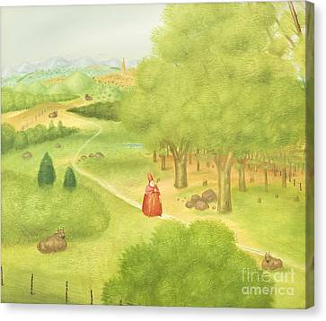 Trip To The Ecumenical Council By Fernando Botero Canvas Print by Roberto Morgenthaler
