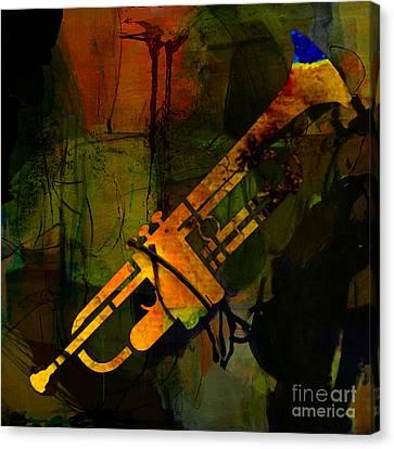 Trumpet Canvas Print by Marvin Blaine