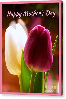 2 Tulips For Mother's Day Canvas Print