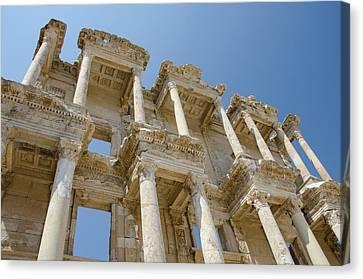 Library Of Celsus Canvas Print - Turkey, Ephesus Celsus Library, Built by Cindy Miller Hopkins