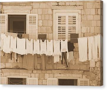 Tuscan Laundry Canvas Print