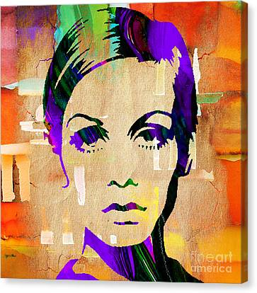 Twiggy Canvas Print - Twiggy Collection by Marvin Blaine