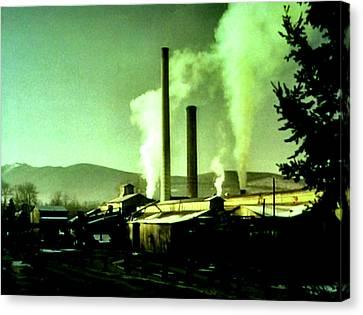 Twin Peaks Canvas Print by Luis Ludzska