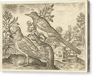 City Scape Canvas Print - Two Birds In A Landscape, Adriaen Collaert by Adriaen Collaert