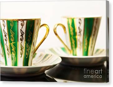 Two Coffee Cups Canvas Print by Aleksey Tugolukov