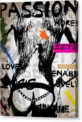 Typography Male  Canvas Print by Mark Ashkenazi