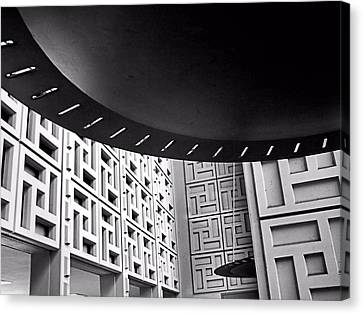 Canvas Print featuring the photograph Ufos In A Maze by Bob Wall
