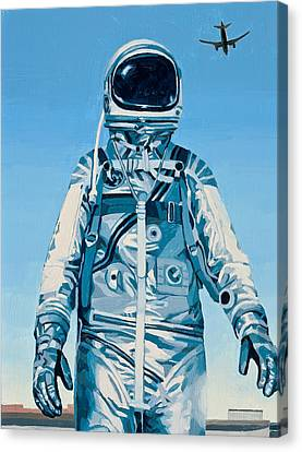 Canvas Print featuring the painting Under The Flight Path by Scott Listfield