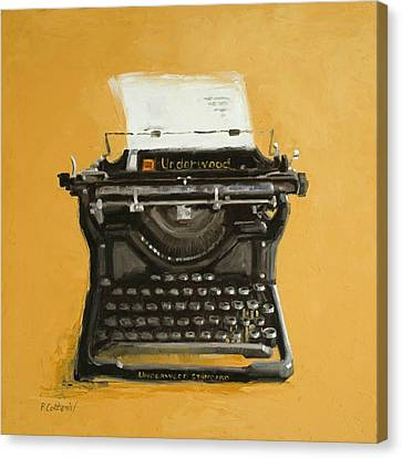 Underwood Typewriter Canvas Print by Patricia Cotterill