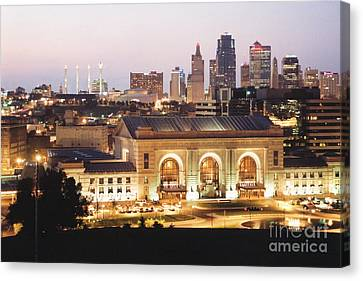 City Scape Canvas Print - Union Station Evening by Crystal Nederman