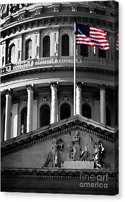 United State Capitol Building Canvas Print by Lane Erickson