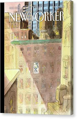 Apartment Canvas Print - New Yorker March 21st, 2011 by Jean-Jacques Sempe