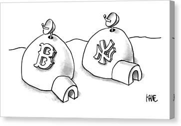 Boston Red Sox Canvas Print - Captionless by John Kane
