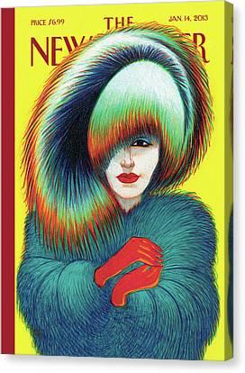 Coat Canvas Print - New Yorker January 14th, 2013 by Lorenzo Mattotti