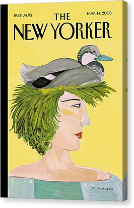 New Yorker March 14th, 2005 Canvas Print by Maira Kalman
