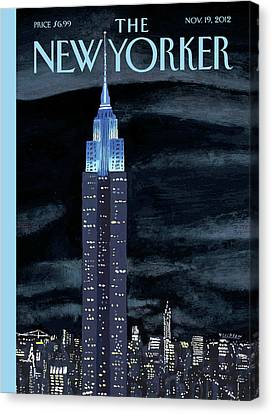 City Scenes Canvas Print - New Yorker November 19th, 2012 by Mark Ulriksen