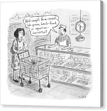 Grocery Store Canvas Print - New Yorker November 7th, 2016 by Roz Chast