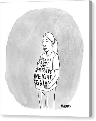 I Ask Canvas Print - New Yorker March 6th, 2006 by Sam Means