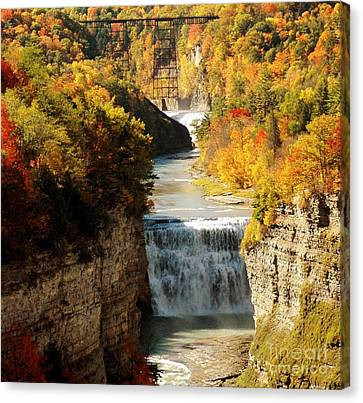 Upper Falls Canvas Print by Kathleen Struckle