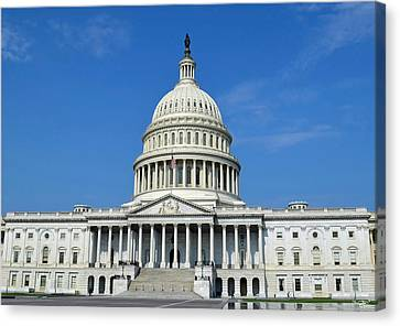 Us Capitol Building Canvas Print