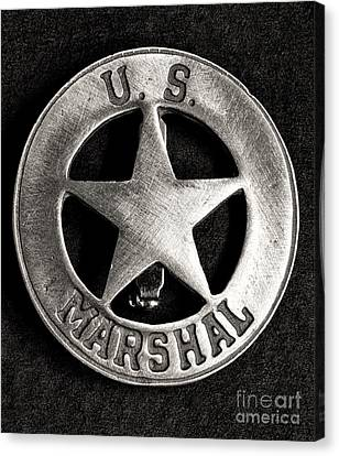 Law Enforcement Canvas Print - Us Marshall - Law Enforcement - Badge by Paul Ward
