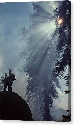 Usa, California, Forest Fire, Sequoia Canvas Print by Gerry Reynolds